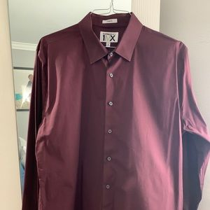 Express burgundy mint condition dress shirt